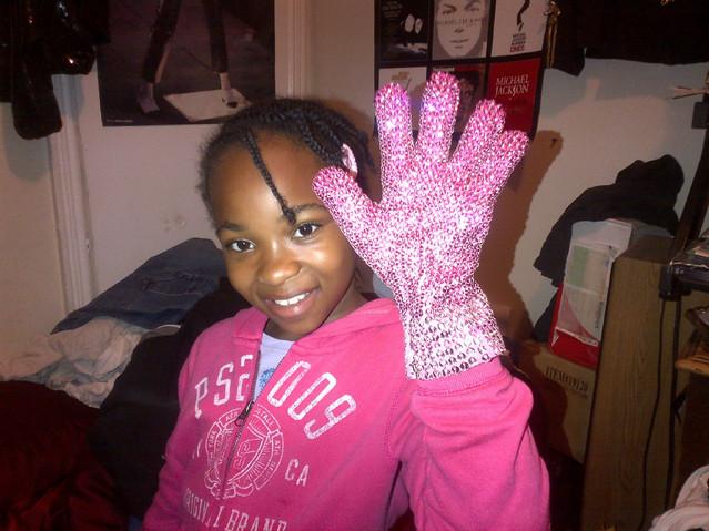 Pink Breast Cancer Glove Customer Photo