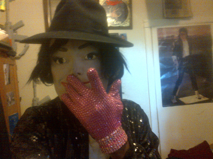 Mark Michael in Pink Breast Cancer Glove