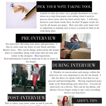How I prep and Write Articles