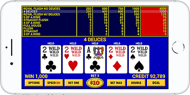Video Poker Lounge iPhone Mockup