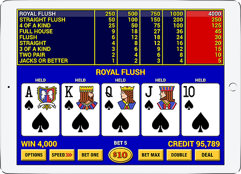 Video Poker Lounge iPad Mockup