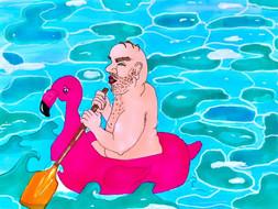 Remar contra a maré (numa piscina)