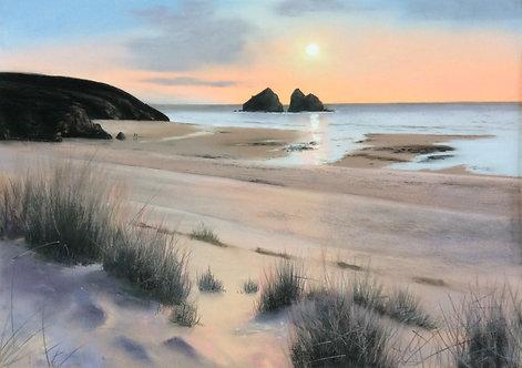 Sunset, Holywell Bay