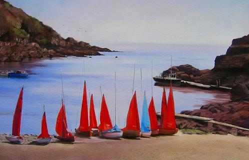Boats at Polperro