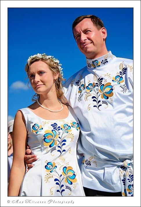 Свадьба в стиле Гжель