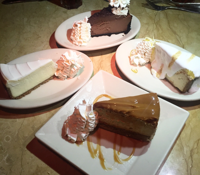 Tasting All The Cheesecake's at the Cheesecake Factory