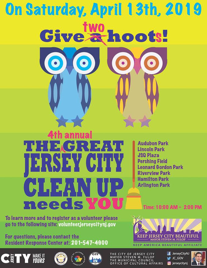The Great Jersey City Clean Up Spring 2019