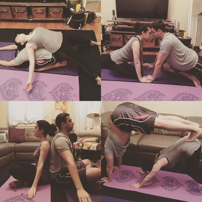 When Downward Dog Takes Two with Yoga With Jessica Namit