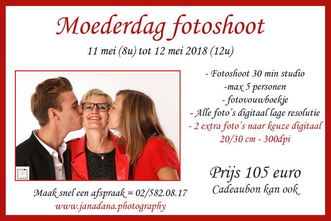 Moederdag photoshoot 11 - 12 mei of een cadeaubon - Maak een afspraak!