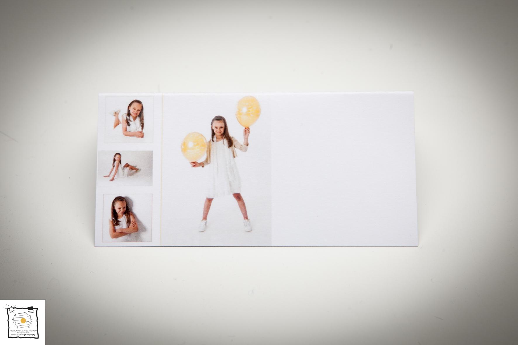 naamkaartje met foto