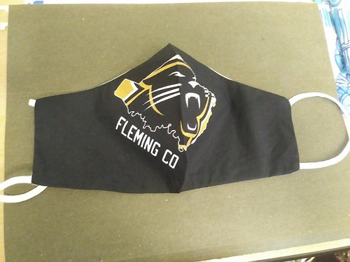 Youth Fleming County Football Cotton Facemask