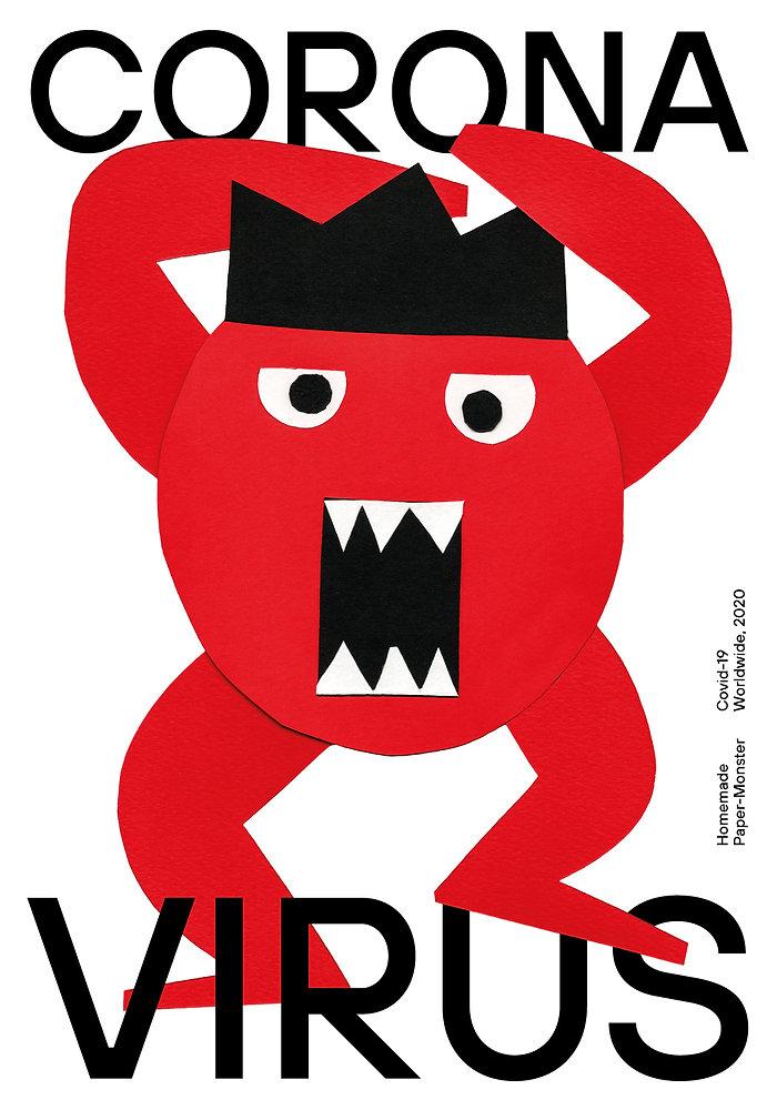 Corona Monster Poster