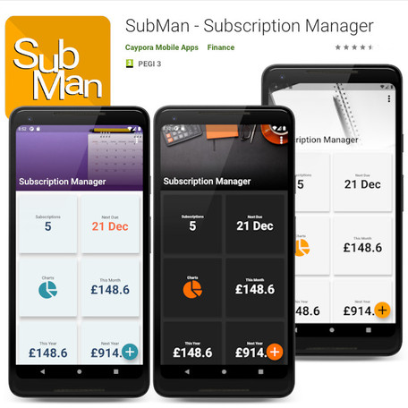 SubMan - Our Subscription Manager App