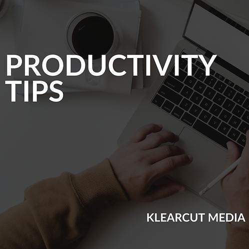 Tips to Productivity