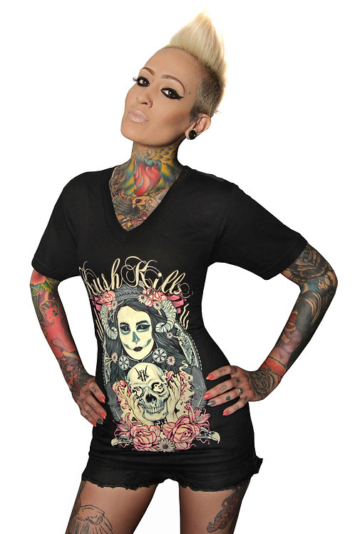 Black Magic Woman Ladies Vneck