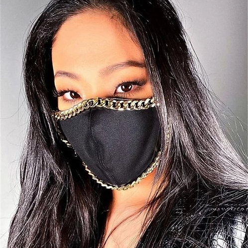 Punk Metal Chain Face Mask