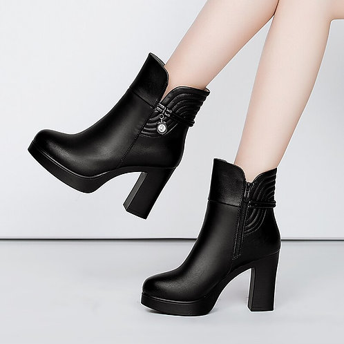 GKTINOO 2020 Soft Leather Autumn Winter Boots