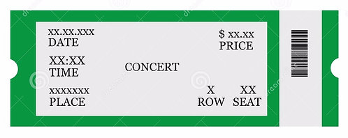 TICKET TO CALGARY CONCERT on September 21st, 2017