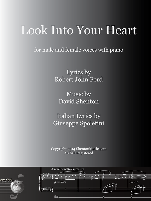 Look Into Your Heart for 2 voices and piano