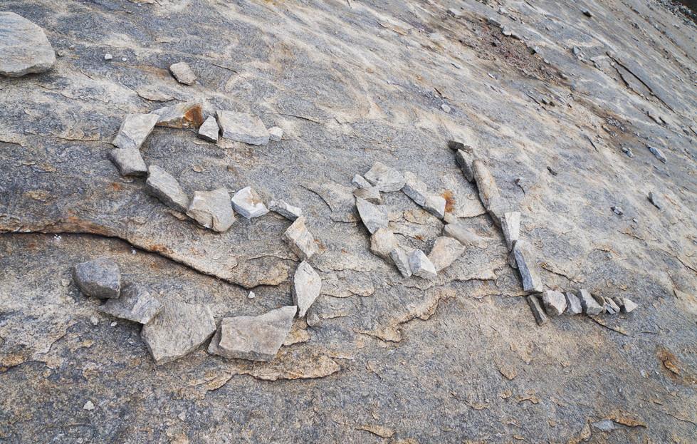 Found some arranged stone art at Arabia Mountain
