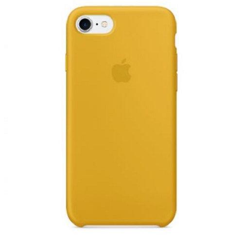 Чехол-наладка на iPhone Silicone Case yellow