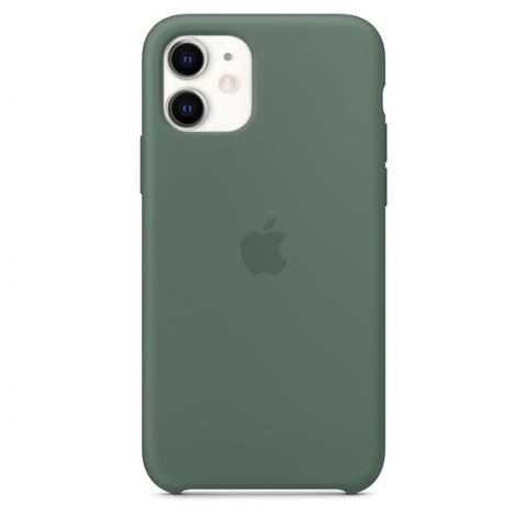 Чехол-наладка на iPhone Silicone Case pine green