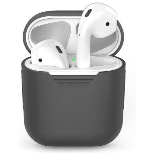 Чехол для наушников Apple AirPods Silicone Case grey
