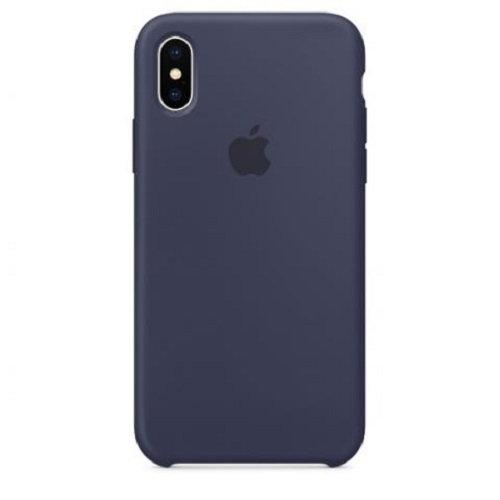 Чехол-наладка на iPhone Silicone Case midnight blue