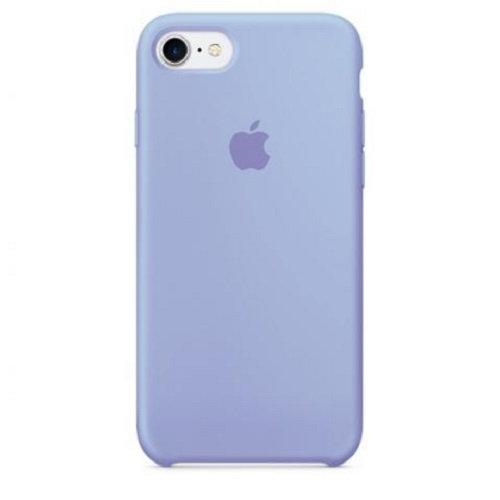 Чехол-наладка на iPhone Silicone Case light violet