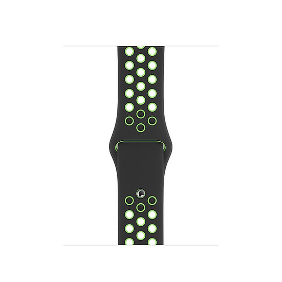 Спортивный ремешок Apple Watch Nike black/lime blast
