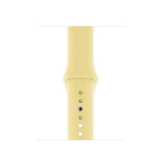 Спортивный ремешок Apple Watch lemon cream