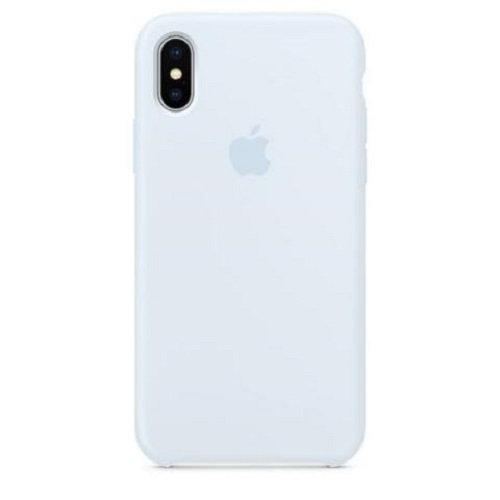 Чехол-наладка на iPhone Silicone Case sky blue