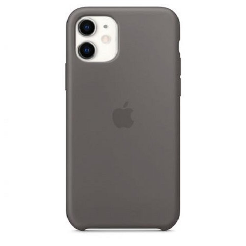 Чехол-наладка на iPhone Silicone Case charcoalgrey