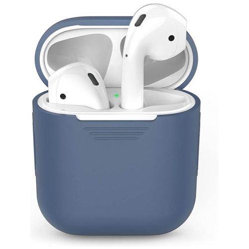 Чехол для наушников Apple AirPods Silicone Case blue