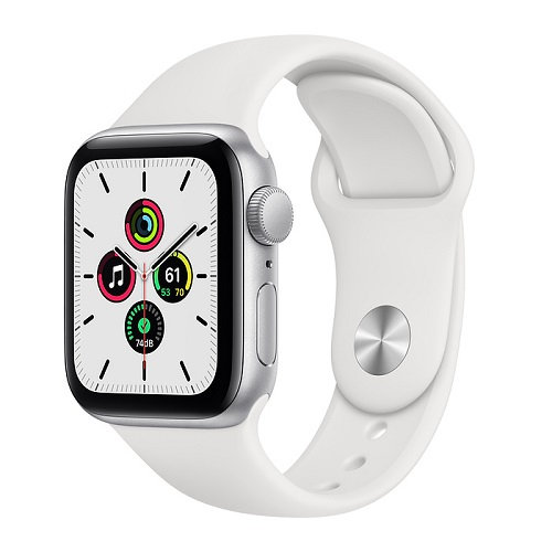 Apple Watch SE Silver (белый ремешок)