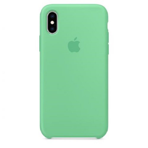 Чехол-наладка на iPhone Silicone Case spearmint