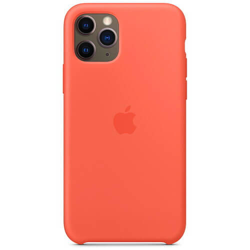 Чехол-наладка на iPhone Silicone Case clementine orange