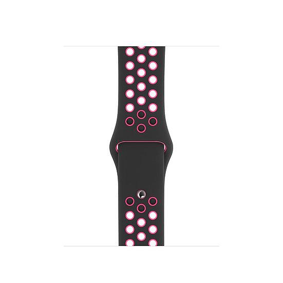 Спортивный ремешок Apple Watch Nike black/pink blast