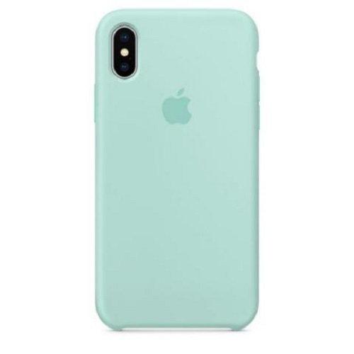 Чехол-наладка на iPhone Silicone Case marine green