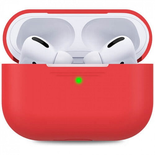 Чехол для наушников Apple AirPods Pro Silicone Case red