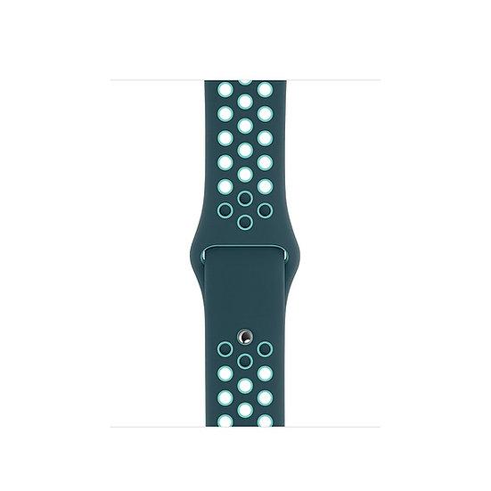 Спортивный ремешок Apple Watch Nike midnight turquoise/aurora green