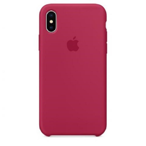 Чехол-наладка на iPhone Silicone Case red rose