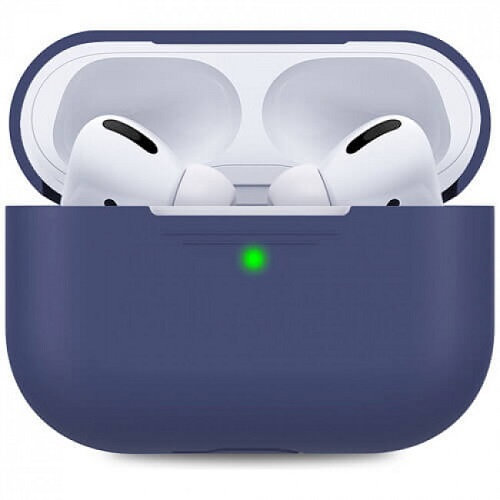 Чехол для наушников Apple AirPods Pro Silicone Case navy blue