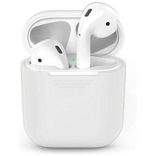 Чехол для наушников Apple AirPods Silicone Case white