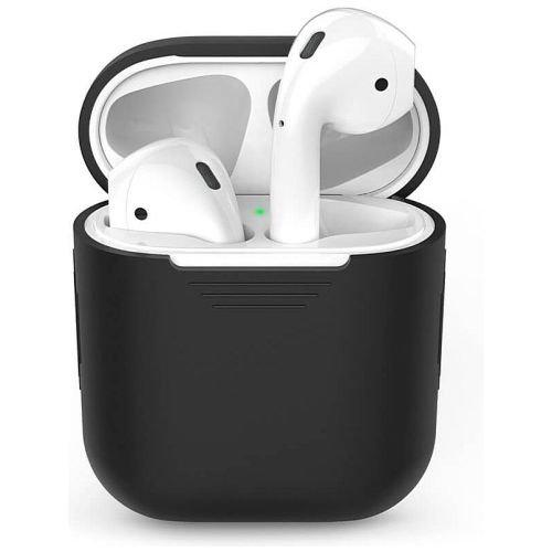 Чехол для наушников Apple AirPods Silicone Case black