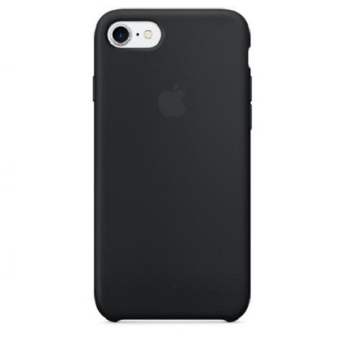 Чехол-наладка на iPhone Silicone Case black