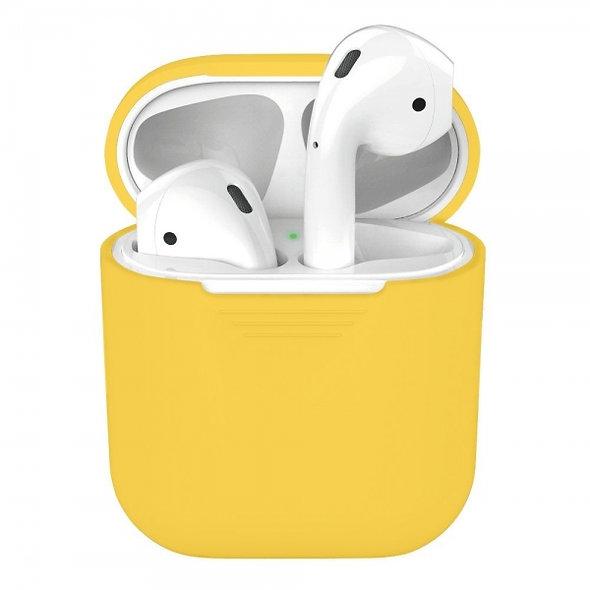 Чехол для наушников Apple AirPods Silicone Case yellow