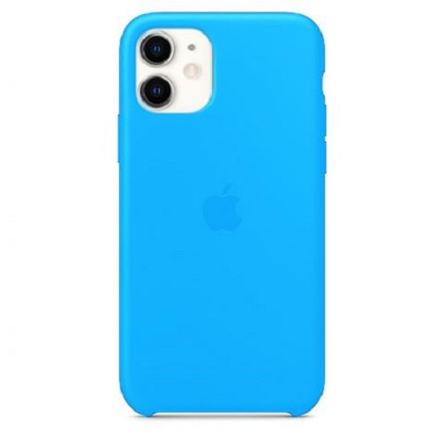 Чехол-наладка на iPhone Silicone Case blue