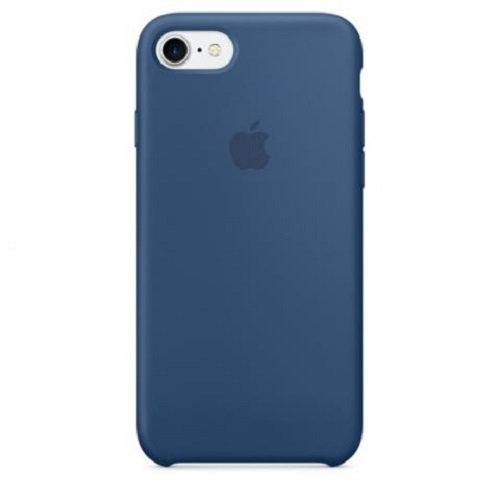 Чехол-наладка на iPhone Silicone Case ocean blue