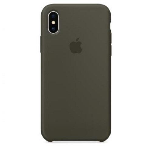 Чехол-наладка на iPhone Silicone Case dark olive